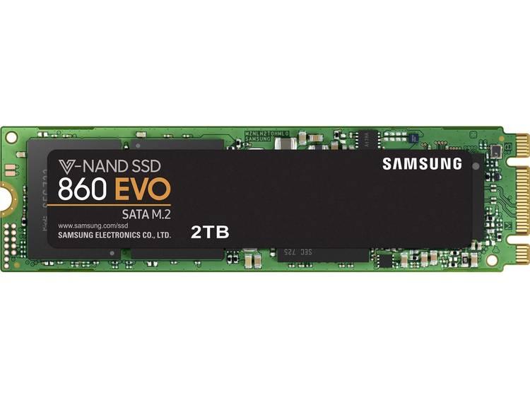 SATA M.2 SSD 2280 harde schijf 2 TB Samsung 860 EVO Retail MZ-N6E2T0BW M.2