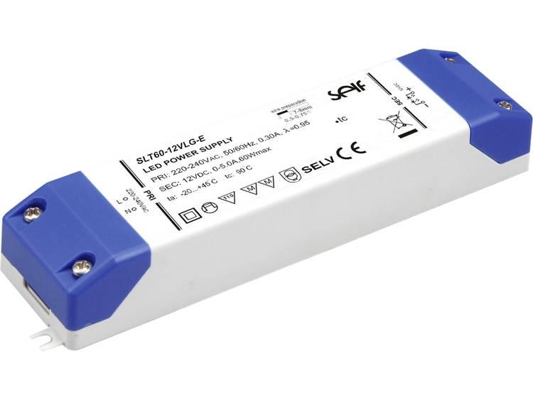 LED-driver 12.0 V/DC 60 W 0 - 5 A Constante spanning Self Electronics SLT60-12VLG-E