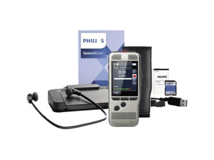 Digitaal dicteerapparaat Philips Digital Pocket Memo Starter Kit DPM 7700 Zilver incl. tas, incl. 4 GB geheugenkaart