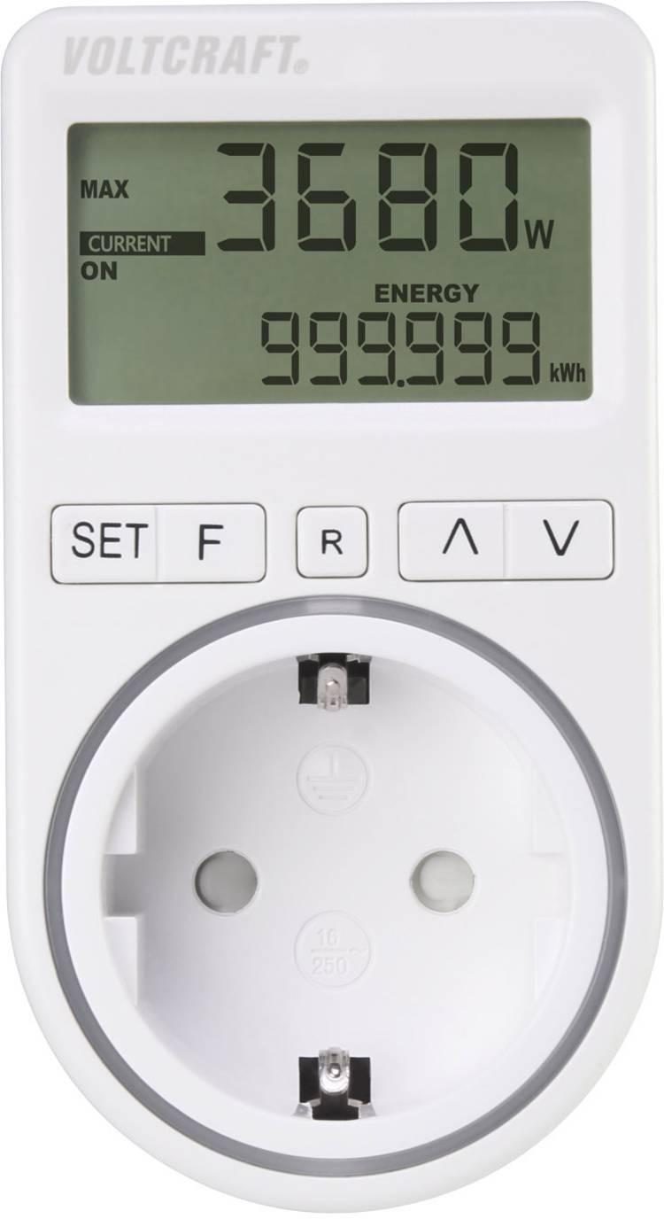 Image of VOLTCRAFT SEM4500 Energiekostenmeter Kostenprognose, Alarmfunctie, Instelbaar stroomtarief
