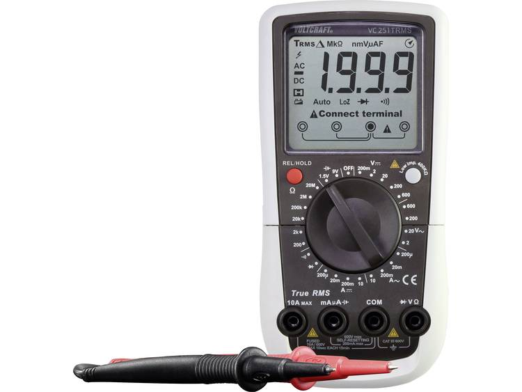 VOLTCRAFT VC251 K Multimeter Kalibratie ISO CAT III 600 V Weergave counts