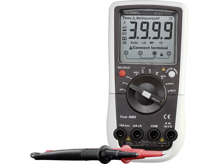 VOLTCRAFT VC271 K Multimeter Kalibratie ISO CAT III 600 V Weergave counts