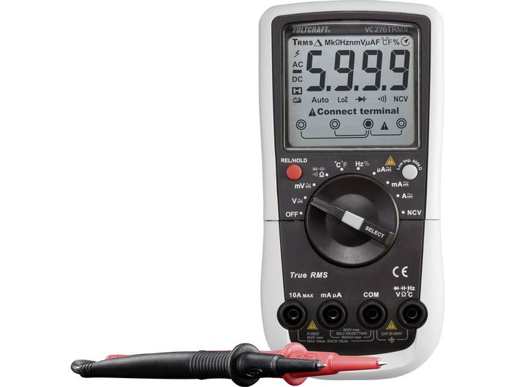 VOLTCRAFT VC276 K Multimeter Kalibratie ISO CAT III 600 V Weergave counts
