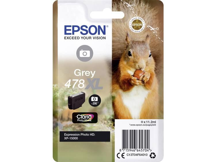 Epson Inkt T04F6, 478XL Origineel Grijs C13T04F64010