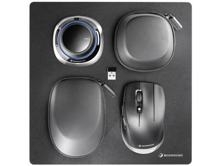 3Dconnexion 3DX-700067 Bluetooth+USB Optisch 7200DPI Rechtshandig Zwart muis