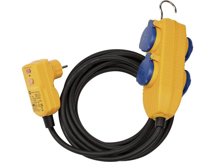 Brennenstuhl 1168720010 5m Zwart, Blauw, Oranje electriciteitssnoer