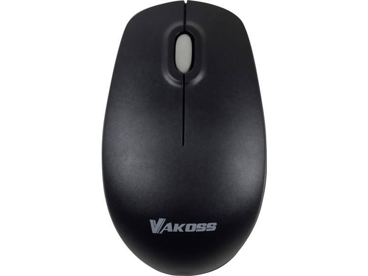 Vakoss TM-741UK Draadloze muis Optisch Zwart