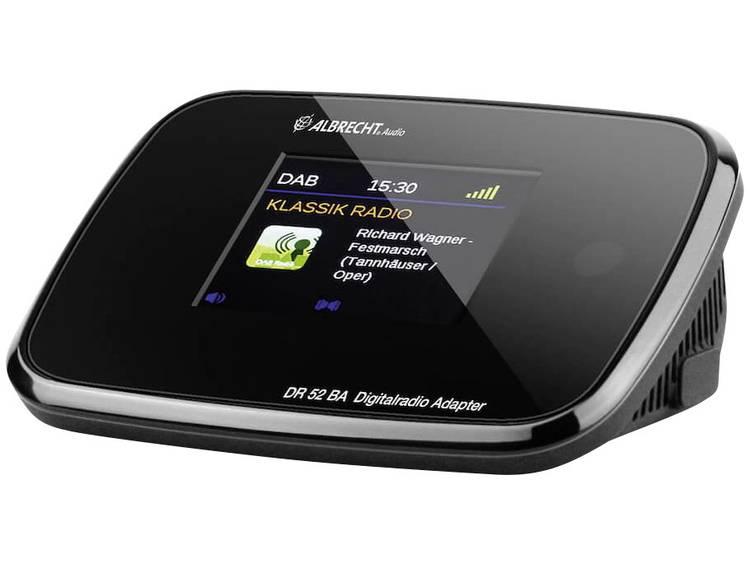 DAB+ Radio-adapter Albrecht DR 52 BA USB, DAB+, Bluetooth Zwart