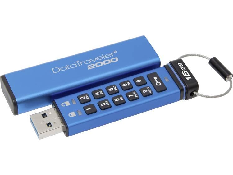 Kingston DataTraveler® 2000 USB-stick 16 GB Blauw DT2000/16GB USB 3.1