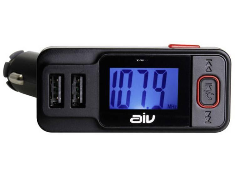 AIV FMT-719 BT-RDS FM transmitter Incl. handsfree-functie, Met afstandsbediening