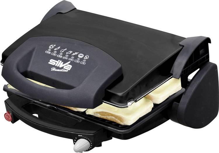 Image of Contactgrill Silva Homeline KG 2010 Elektrische met handmatige temperatuursinstelling Zwart