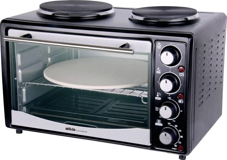 Image of Silva Homeline KK 2850 P Mini-oven incl. kookplaat, Heteluchtfunctie 27 l