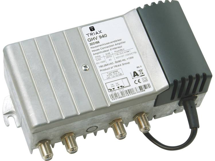 Kabeltelevisieversterker 8-voudig Triax GHV 940 40 dB