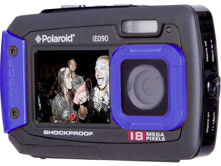 Polaroid IE90 Digitale camera 18 Mpix Zwart-blauw Onderwatercamera, Stofdicht, Frontdisplay