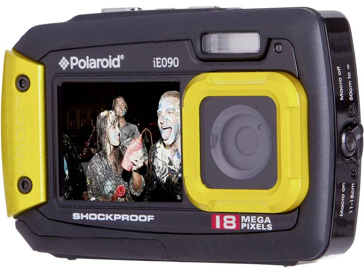 Polaroid IE90 Digitale camera 18 Mpix Zwart-geel Onderwatercamera, Stofdicht, Frontdisplay