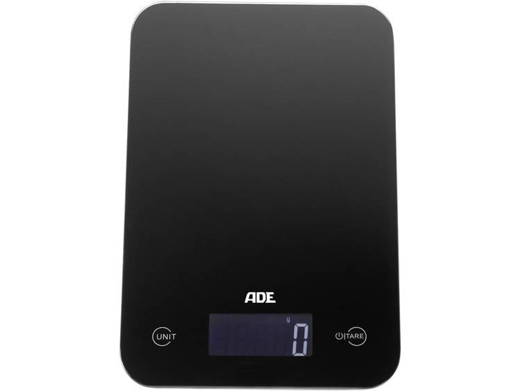 ADE Slim Digitale keukenweegschaal Zwart