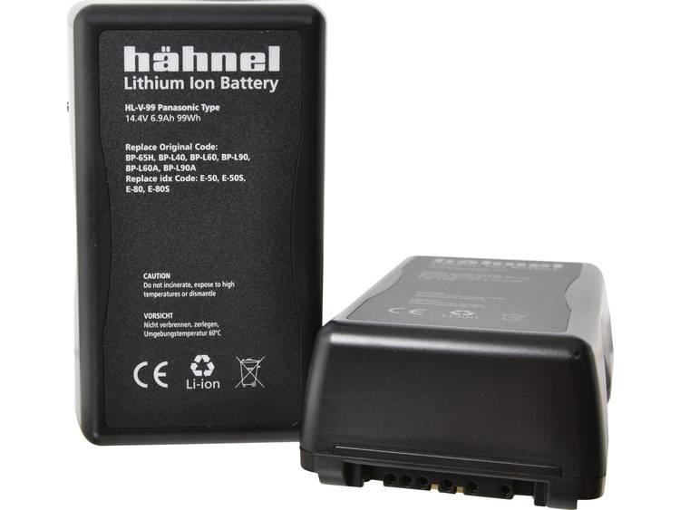 Hähnel HL-V99 V-Mount Camera-accu Vervangt originele accu BP-65H, BP-L40, BP-L60, BP-L60A, BP-L90, BP-L90A, E-50, E-50S, E-80, E-80S 14.4 V 6900 mAh
