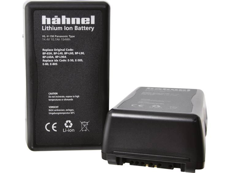 Hähnel HL-V158 V-Mount Camera-accu Vervangt originele accu BP-65H, BP-L40, BP-L60, BP-L60A, BP-L90, BP-L90A, E-50, E-50S, E-80, E-80S 14.4 V 10700 mAh