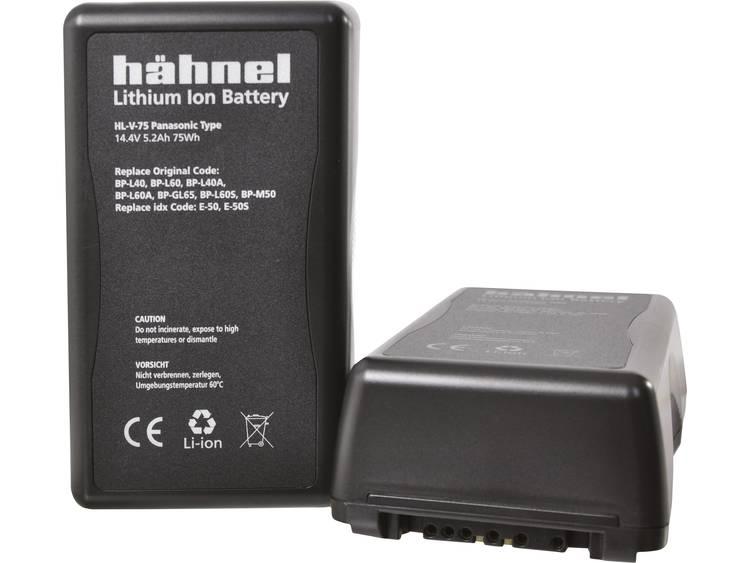Hähnel HL-V75 V-Mount Camera-accu Vervangt originele accu BP-65H, BP-L40, BP-L60, BP-L60A, BP-L90, BP-L90A, E-50, E-50S, E-80, E-80S 14.4 V 5200 mAh