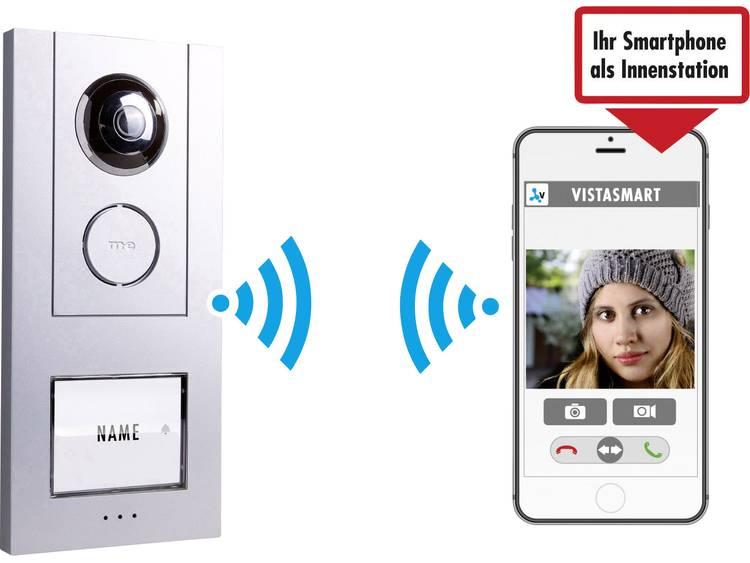 m-e modern-electronics 41023 Video-deurintercom via WiFi LAN, WiFi Buitenunit voor, Netvoeding voor 1 gezinswoning Zilver