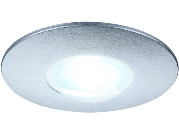 SLV LED-inbouwlamp DekLED, wit 112240 LED vast ingebouwd LED 1 W Zilver (metallic) Kunststof PC-alum