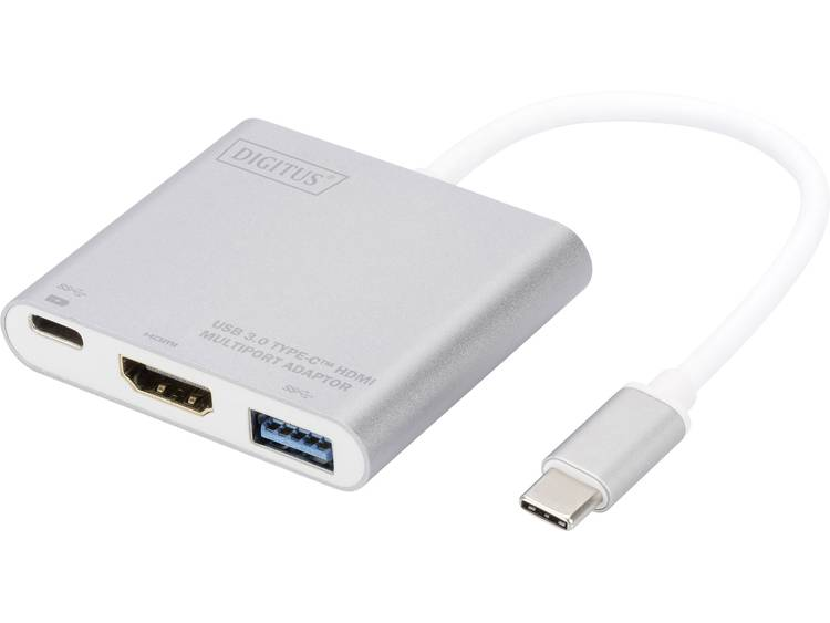 Digitus DA-70838-1 4096 x 3072Pixels Grijs, Wit USB grafische adapter