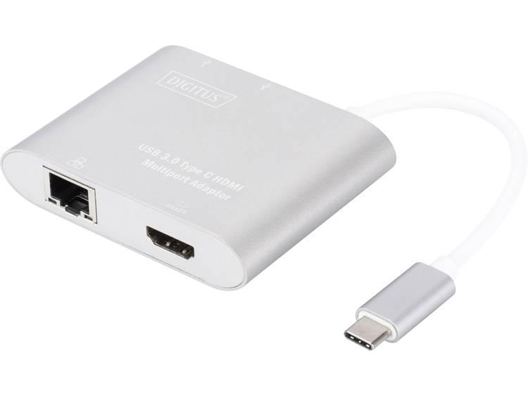 Digitus DA-70847 USB 3.0 (3.1 Gen 1) Type-C 5000Mbit-s Aluminium hub & concentrator