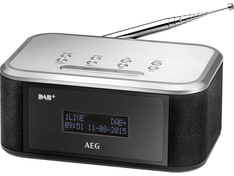 AEG MRC 4148 FM Wekkerradio Zwart, Zilver