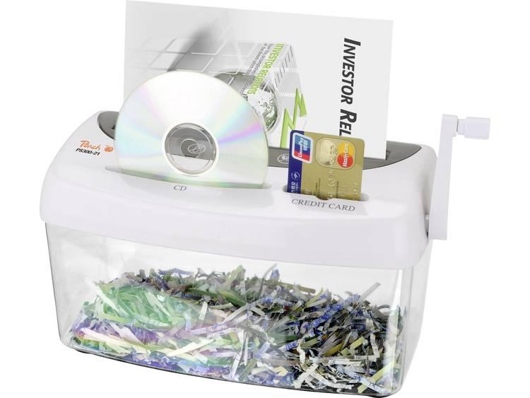 Papierversnipperaar Peach PS300-21 Cross cut 3.5 x 40 mm 4 l Aantal bladen (max.): 1 Veiligheidsniveau 4 Ook geschikt voor CDs, DVDs, Creditcards