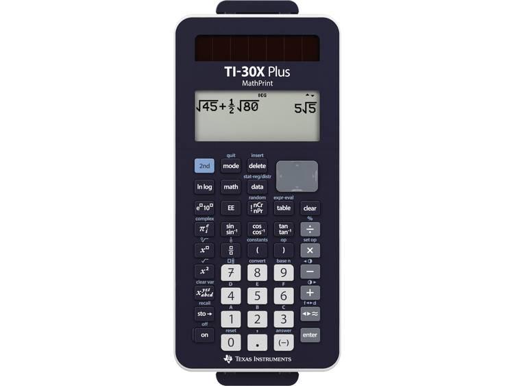 Schoolrekenmachine Texas Instruments TI-30X Plus MathPrint Zwart Aantal displayposities: 16 werkt op
