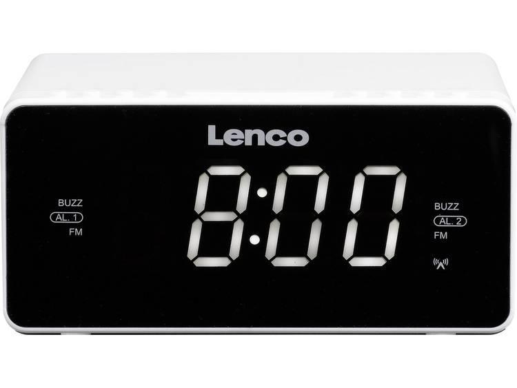 Lenco CR-530 FM Wekkerradio AUX Wit