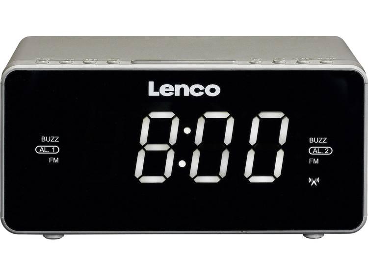 Lenco CR-530 FM Wekkerradio AUX Zilver