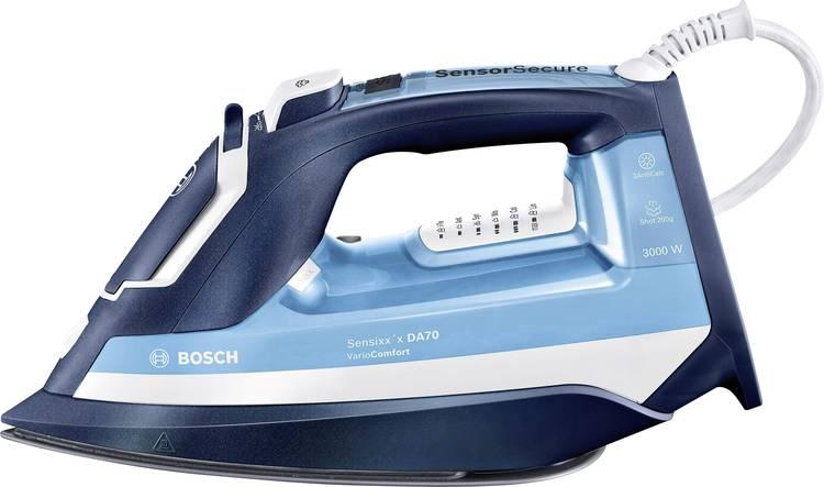 Image of Bosch Haushalt TDA753022V Sensixxx DA70 VarioComfort Stoomstrijkijzer Lichtblauw, Nachtblauw 3000 W