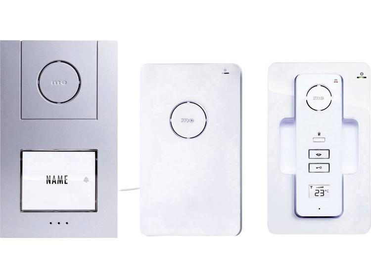 m-e modern-electronics 40941 Deurintercom DECT, Radiografisch Complete set voor 1 gezinswoning Wit-zilver