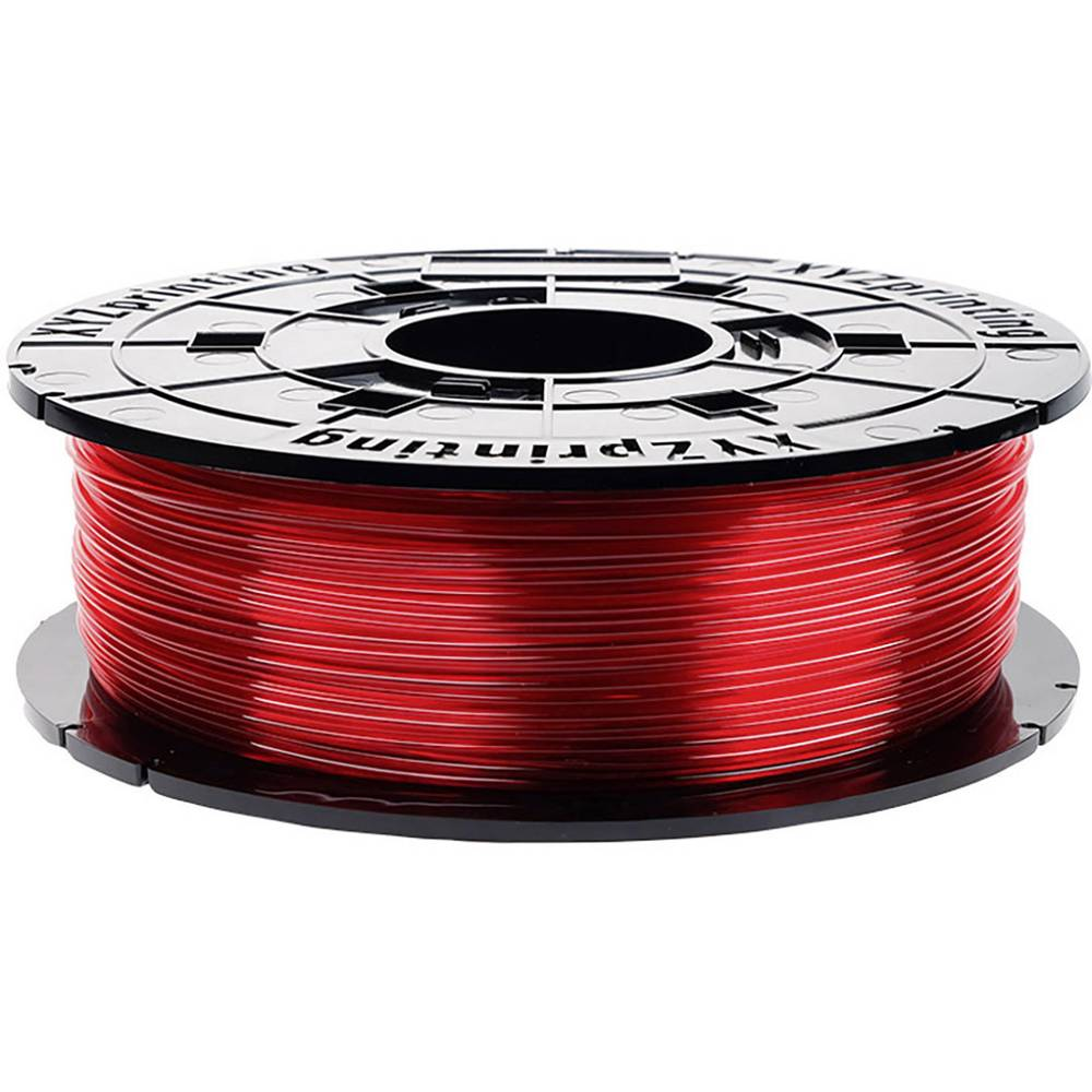 XYZprinting RFPETXEU01G 3D-skrivare Filament PETG korrosionsbeständig, UV-beständig 1.75 mm 600 g Röd (transparent) 1 st