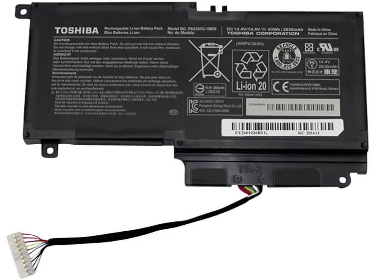 Laptopaccu Toshiba Vervangt originele accu P000617510, P000573240, P000573250, P000573230 14.4 V 2838 mAh