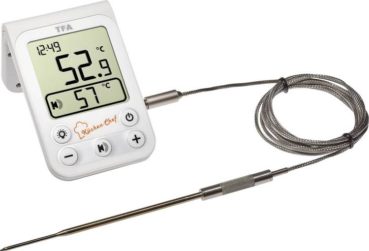TFA 14.1510.02 Barbecuethermometer bewaking van kerntemperatuur. kabelsensor braden. grillen. langzaam garen