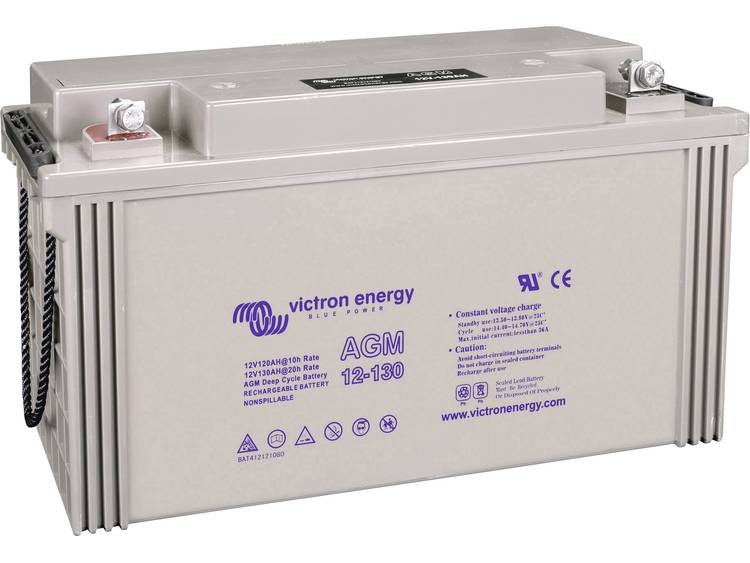 Victron Energy Blue Power BAT412121104 Solar-accu 12 V 130 Ah Loodgel (b x h x d) 410 x 227 x 176 mm M8-schroefaansluiting