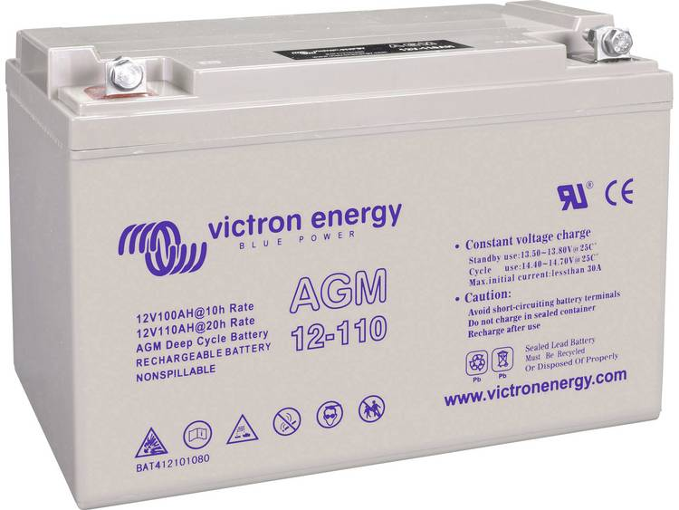 Victron Energy Blue Power BAT412101104 Solar-accu 12 V 110 Ah Loodgel (b x h x d) 330 x 220 x 171 mm M8-schroefaansluiting