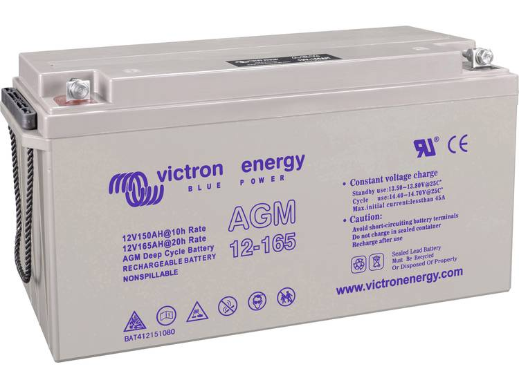 Victron Energy Blue Power BAT412151104 Solar-accu 12 V 165 Ah Loodgel (b x h x d) 485 x 240 x 172 mm M8-schroefaansluiting