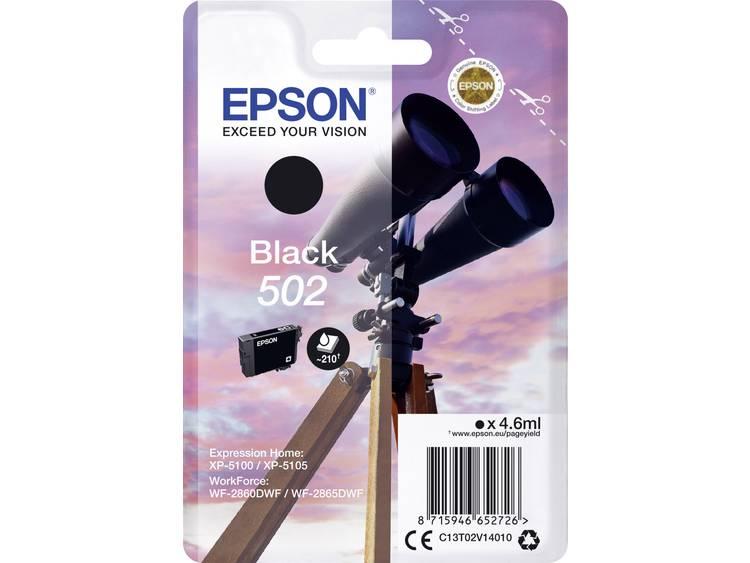 Epson Inkt T02V14 502 Origineel Zwart C13T02V14010
