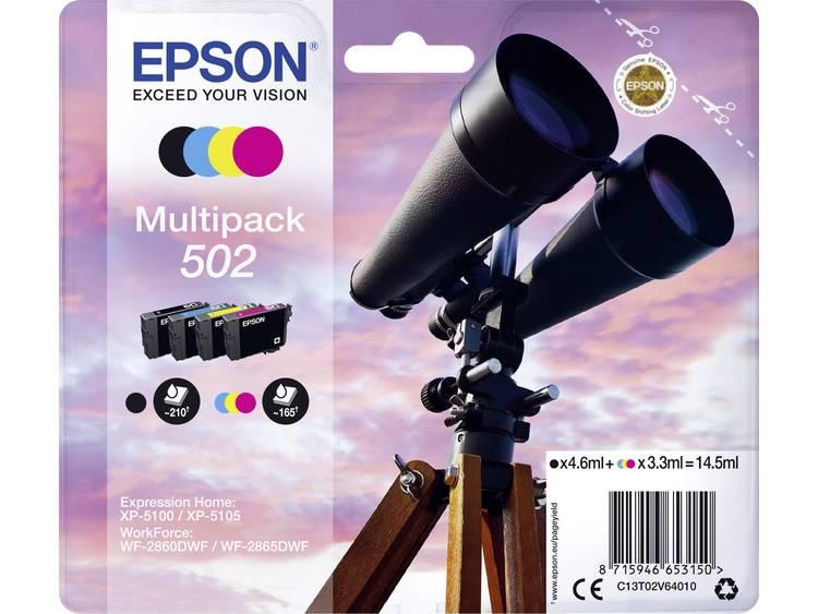 Epson Inkt combipack T02V64 502 Origineel Zwart Cyaan Magenta Geel C13T02V64