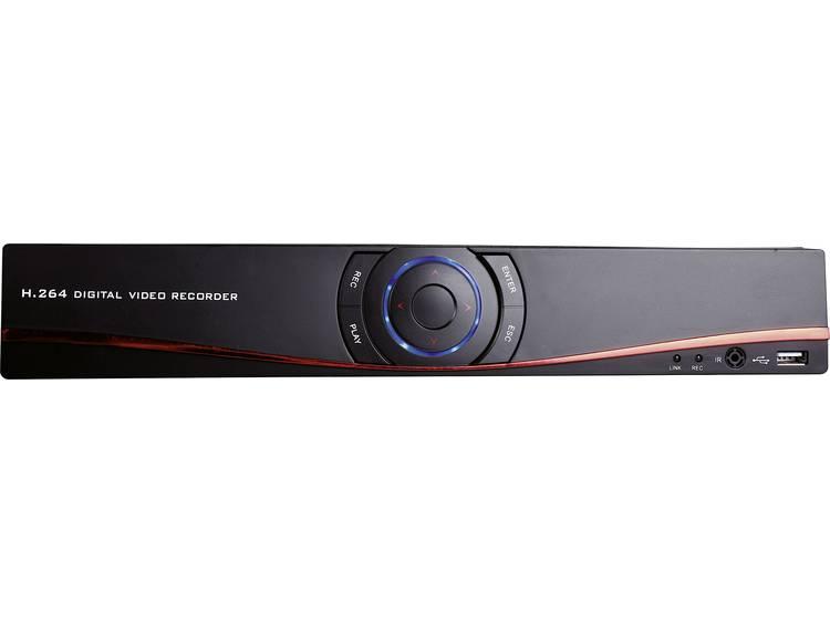 4-kanaals Netwerk-videorecorder m-e modern-electronics 55325 DVR 3004