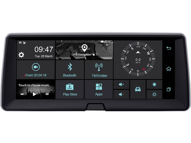 Phonocar VM321 Dashboard Multimediasystem Dashcam met GPS WiFi, Touchscreen, Display, Microfoon