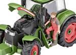 Modelbouwpakket tractor en aanhanger met figuur