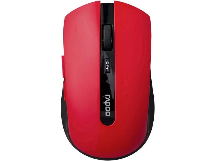 Rapoo 7200P Draadloze muis Optisch Rood