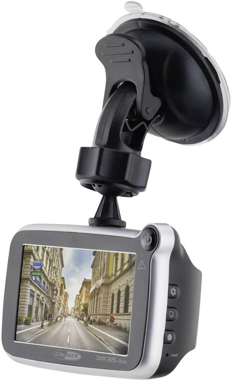 Image of Caliber Audio Technology DVR225DUAL Dashcam met GPS Kijkhoek horizontaal (max.): 143  Achteruitrijcamera, Display, Accu, Microfoon