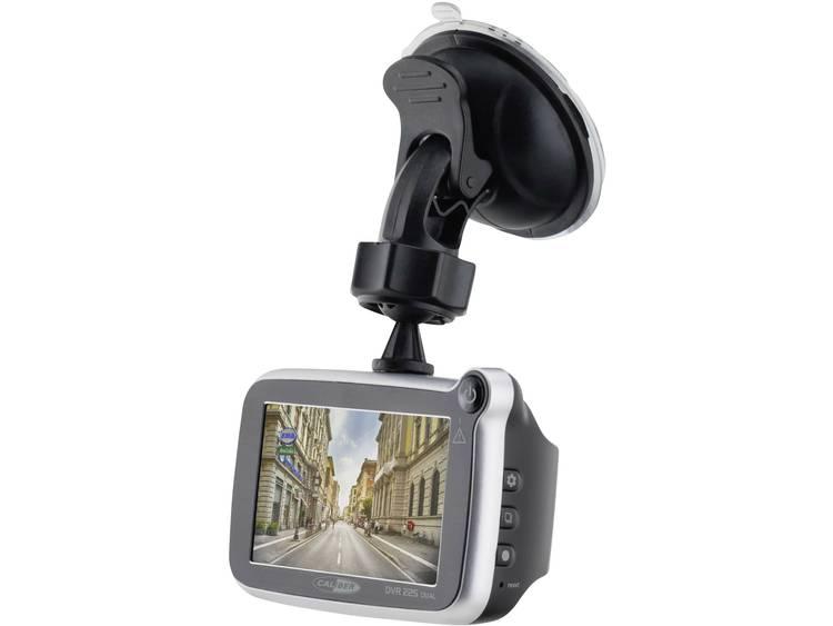 Caliber Audio Technology DVR225DUAL Dashcam met GPS Kijkhoek horizontaal (max.) 143 ° Achteruitrijcamera, Display, Accu, Microfoon