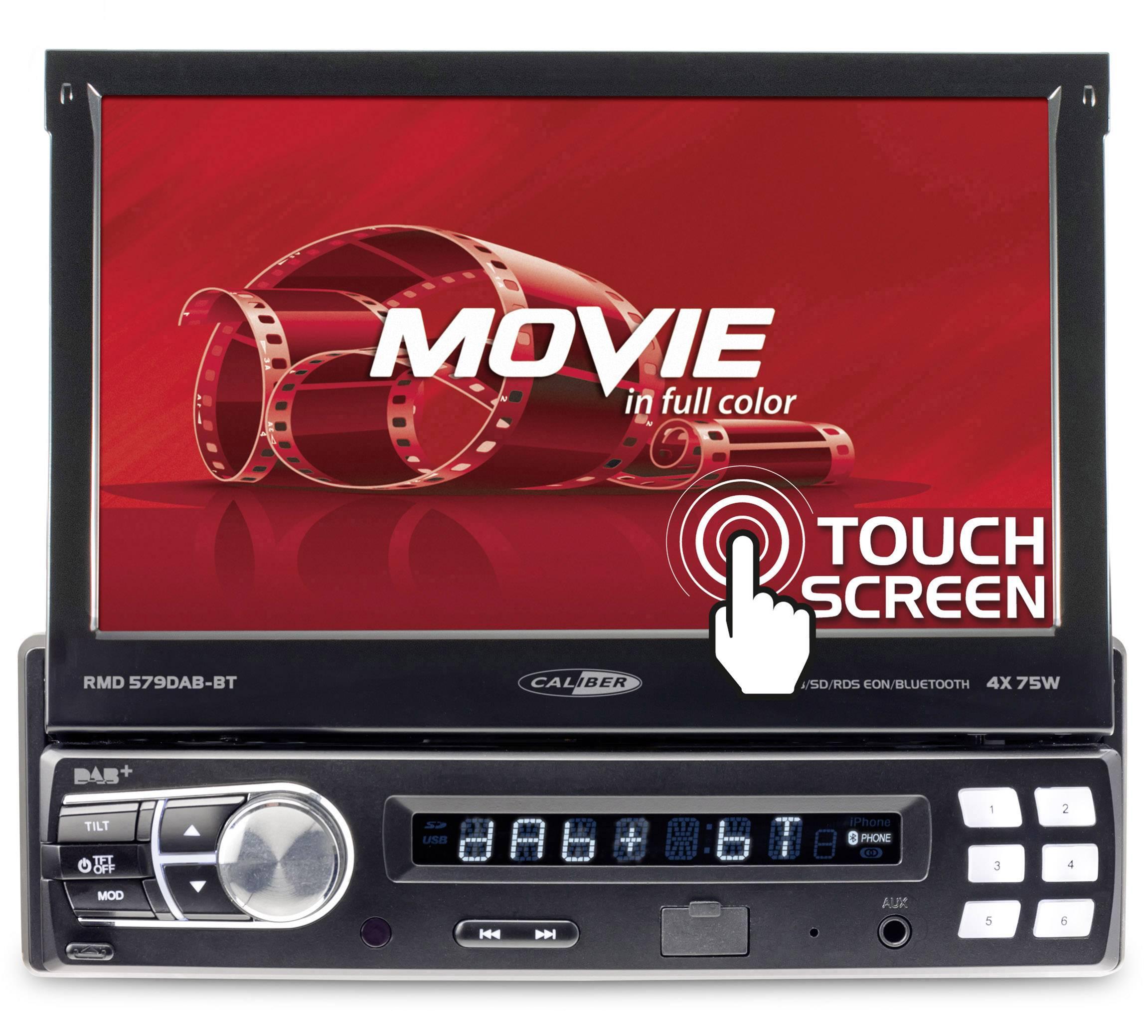 Conrad-Caliber Audio Technology RMD579DAB-BT Autoradio met scherm DAB+ tuner, Aansluiting voor stuurbediening, Aansluiting voor achteruitrijcamera, Bluetooth handsfree, Incl. afstandsbediening-aanbieding