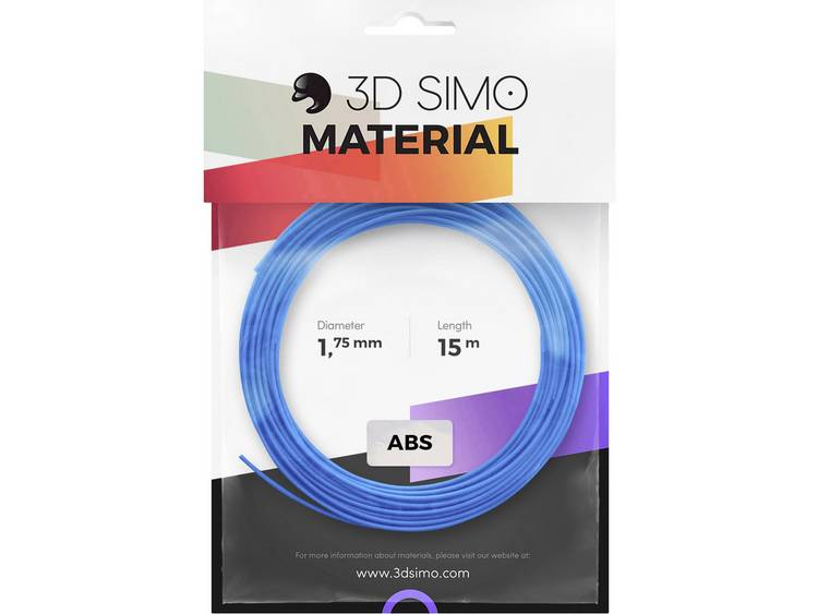 Filamentpakket 3D Simo 3Dsimo-ABS-1 ABS kunststof 1.75 mm Blauw, Groen, Geel 120 g